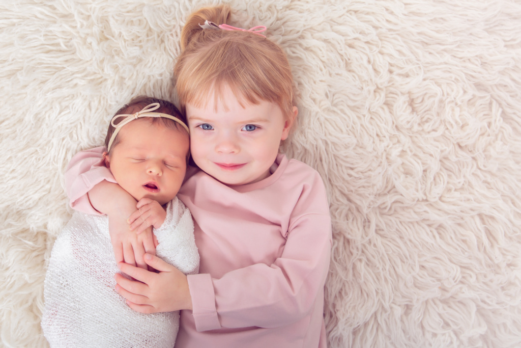 Sisters photo by Newborn Photographer April McColeman