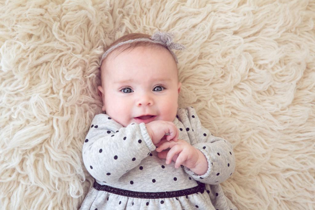milestine session baby girl Manotick